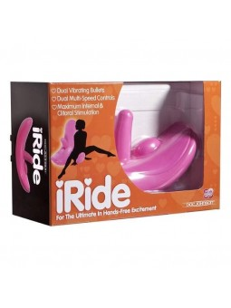 Dildo con dondolo IRIDE WITH DUAL BULLETS PINK