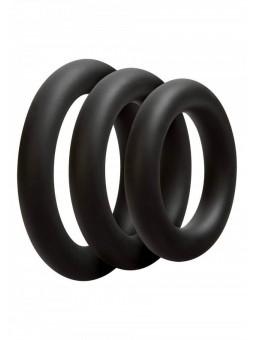 Kit di 3 Anelli OptiMALE 3 C-Ring Set Thick Nero