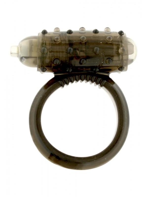 Anello vibrante nero con set di 3 anelli neri