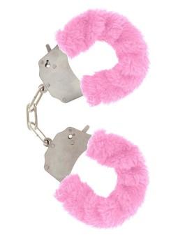 Manette in peluche color rosa,per giochi erotici