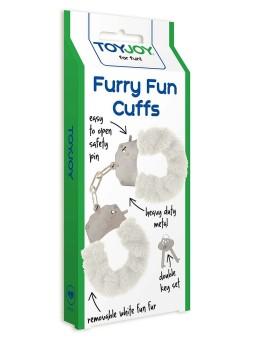 Manette in peluche color bianco,per giochi erotici