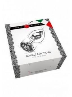 Plug anal argento small rigato 7,5 cm